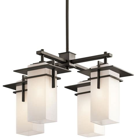 Meyda Tiffany Wall Sconce Indoor Outdoor Modern Mission 4 Light Chandelier
