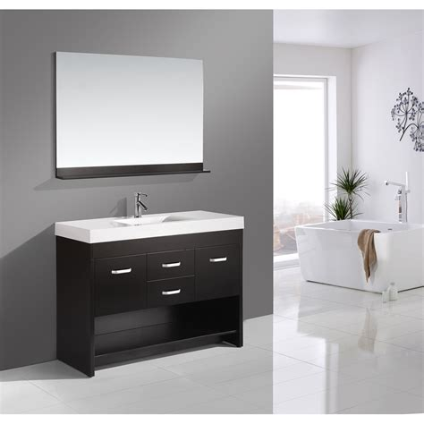 Design Element Bathroom Vanities by Design Element Citrus 48 Quot Single Sink Bathroom Vanity Set
