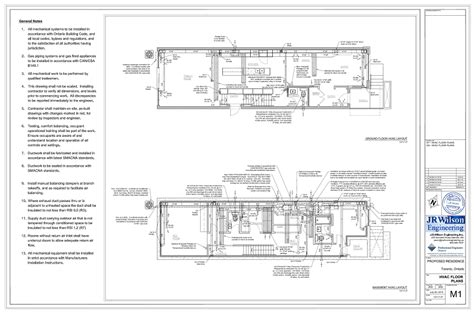 hvac drawings calculations for residential permit ontario