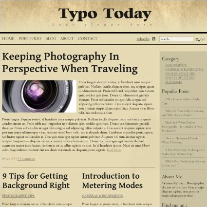 typo template typo today template free website templates in css html