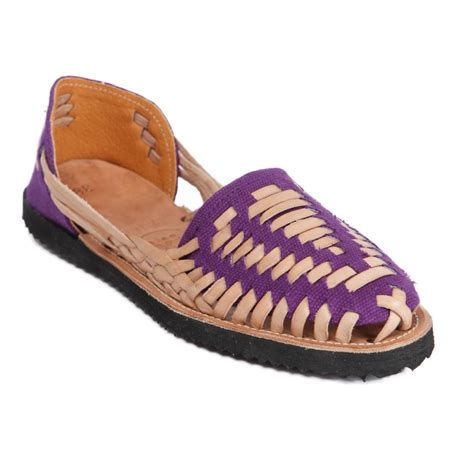 huarache sandals ix style s purple woven leather huarache sandals in