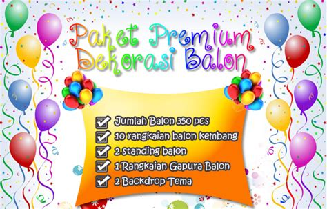 Paket 10 Pcs Balon Pesta Model Singuntuk Ulang Tahun Property Foto jasa dekorasi balon murah jakarta