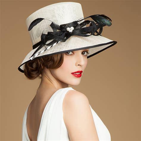 2015 formal vintage sinamay hat luxury summer