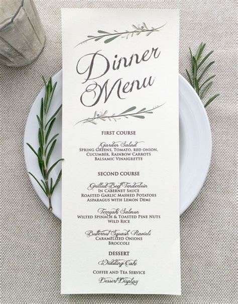 25 best ideas about printed wedding menus on pinterest