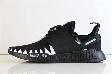 Adidas Nmd R1 Neighborhood Black White adidas x neighborhood nmd r1 pk nbhd black white da8835