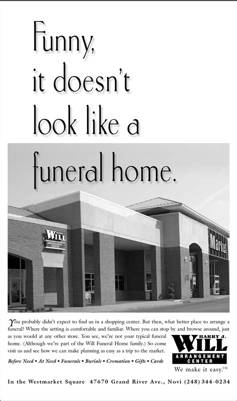 Funeral Print Advertising | LA Ads