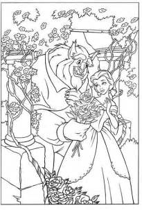 beauty and the beast coloring in pages collections