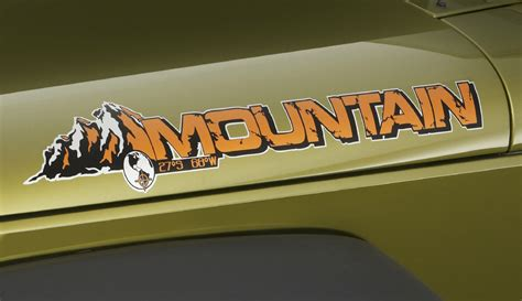 jeep hood stickers 2 jeep mountain rubicon jk hood colors sticker decal 2