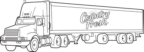 Semi Coloring Pages by 18 Wheeler Coloring Pages Coloring Page