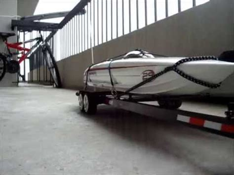 rc boat trailer for catamaran rc boat trailer mystic 29 or miss geico youtube