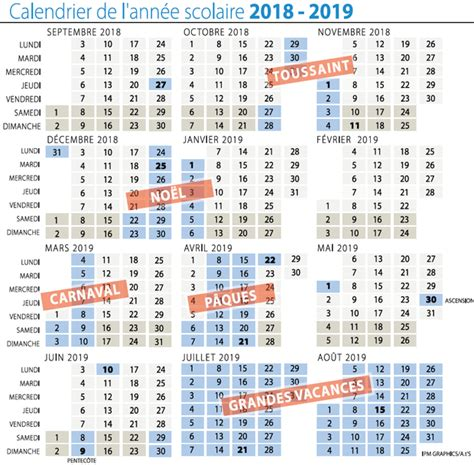 Calendrier Scolaire 2018 19 Images Calendrier Scolaire 2018 2019 Dr I 3827858158 And