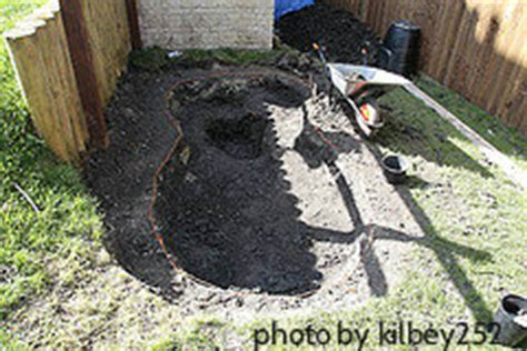 backyard dugout digging your pond backyard pond step by step design garden