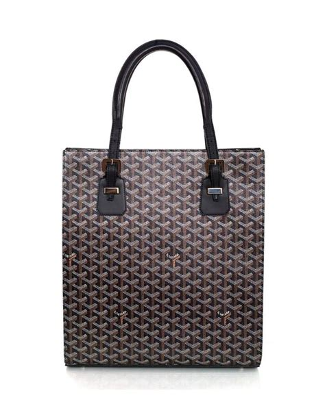Canvas Tote Bag Chevron Black White goyard black canvas chevron print comores tote bag for