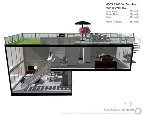 3d Floor Plan For 509 1540 W 2nd Ave Waterfall Building Floor Plans Vancouver House