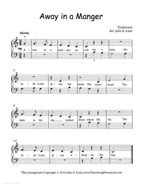 electronic keyboard tutorial pdf away in a manger free easy christmas piano sheet music
