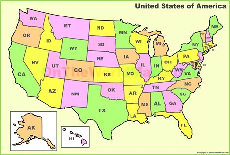 map of us states abbreviations us map of state abbreviations united states of america