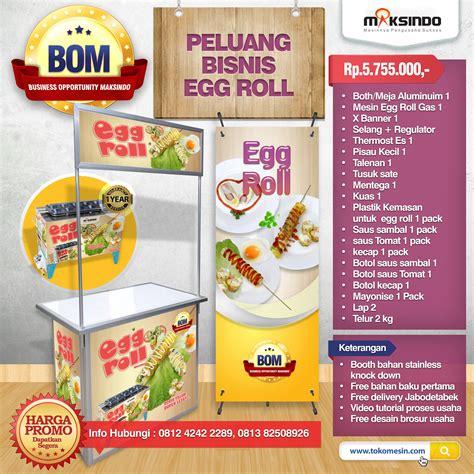 Mesin Egg Roll paket usaha egg roll progam bom agrowindo agrowindo