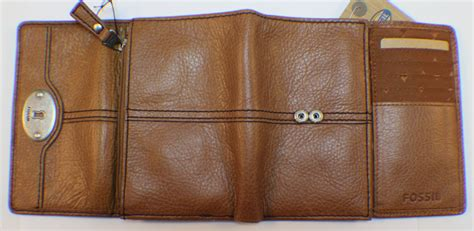 Fossil Marlow Zip Coin Wallet In Chestnut fossil marlow multifunction chestnet tri fold wallet and coin purse leather ebay