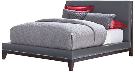 grey upholstered bed couture grey queen upholstered platform bed 815 71 72 73