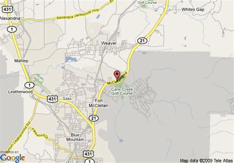 mcclellan texas map map of 8 motel anniston anniston