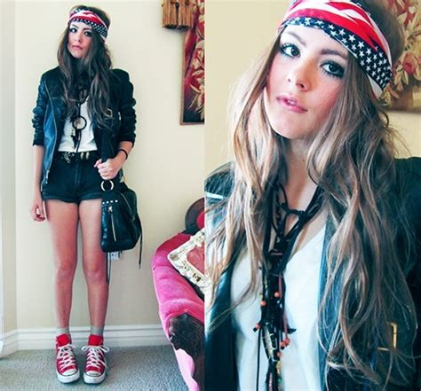 biker bandana look cute on thin hair biker chick fashion for the daredevil girls