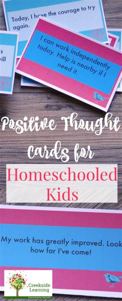Task Cards Template For Affirmations by Positive Thought Cards For Creekside Learning