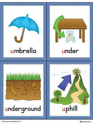 colors starting with u letter u words and pictures printable cards umbrella