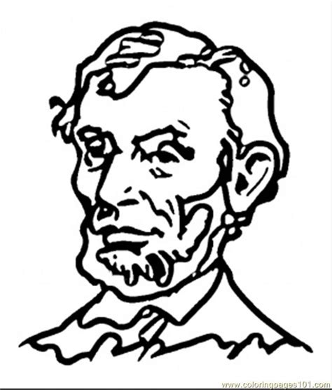 coloring pages abraham lincoln countries gt usa free