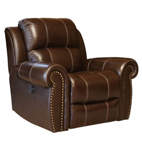 abbyson recliner abbyson living kingston leather power recliner in brown