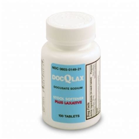 Senna Stool Softener Dosage by Buy Docqlax Senna Laxative And Stool Softener 100