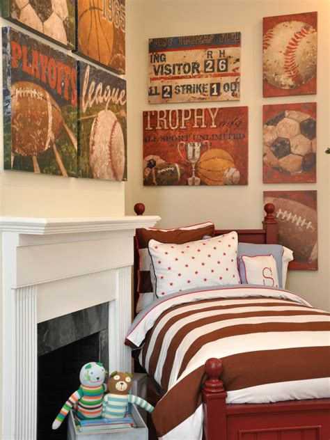 kids sports bedroom photo page hgtv