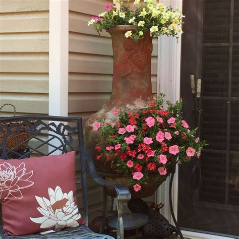 chiminea planter ideas 15 best chiminea garden planter images on