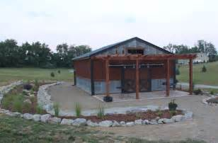 Patio Barn barn landscaping project finished on a dime before and