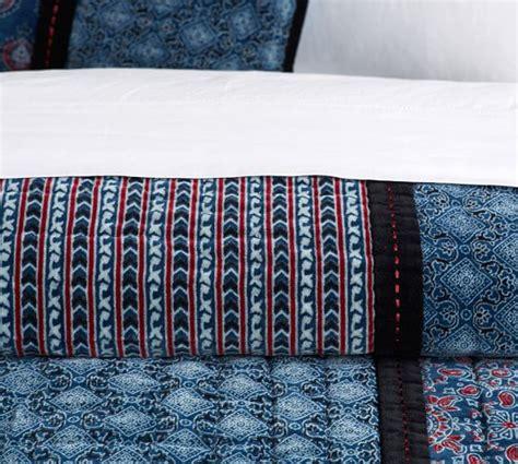 Velvet Patchwork Quilt - jori velvet patchwork quilt sham pottery barn