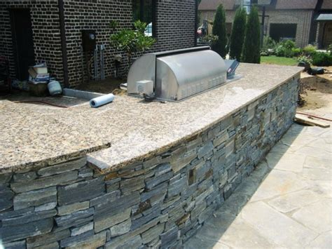 Inexpensive Kitchen Island Add Natural Stone To Your Outdoor Kitchen Moreno Granite