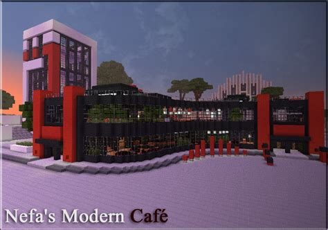 White And Black Kitchen Designs Nefa S Modern Cafe Minecraft Project