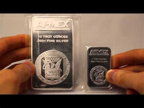 1 Ounce Silver Bar Size by Apmex 10 Oz Silver Bar