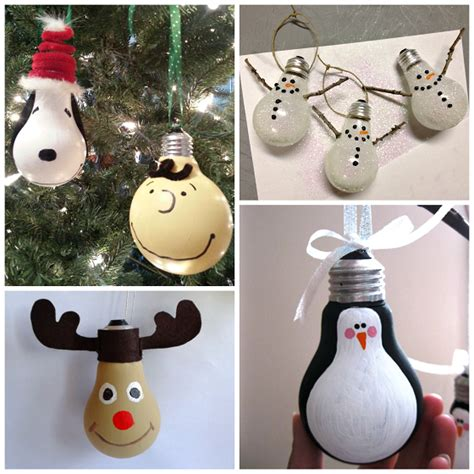 christmas ornaments made from light bulbs creative light bulb ornaments crafty morning