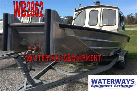 rear cabin boats wb2862 24 x 7 aluminum rear cabin work boat