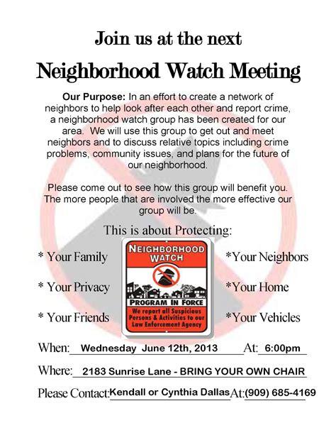 Neighborhood Meeting Flyer Template