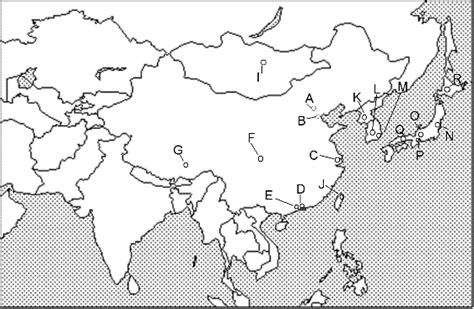 major world cities map quiz world geography east asia unit 9 map quiz capitals and