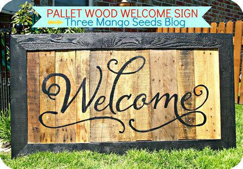 pallet signs three mango seeds another pallet wood sign