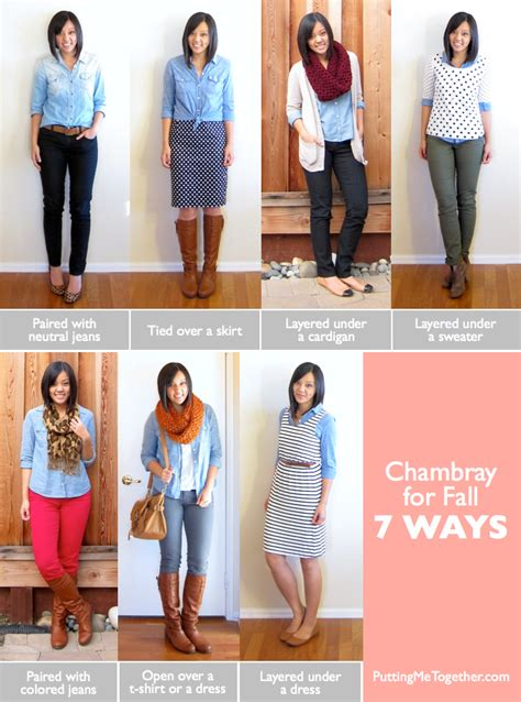 7 And Easy Styling Tips by Putting Me Together How To Wear Chambray For Fall 7