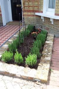 Formal Herb Garden - evergreen herbs to edge flower borders plewsgardendesign
