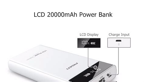 Power Bank Samsung 20000mah Lcd pisen 20000mah power bank external charger dual usb lcd display iphone samsung ebay