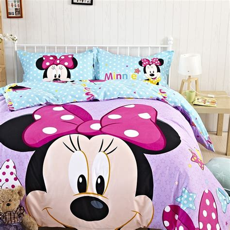 minnie and mickey bedroom minnie mouse bedding queen queen size cotton minnie mouse