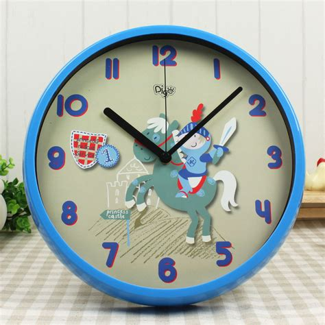 home decor clock 2015 high quality plastic wall clock gift clock bule color