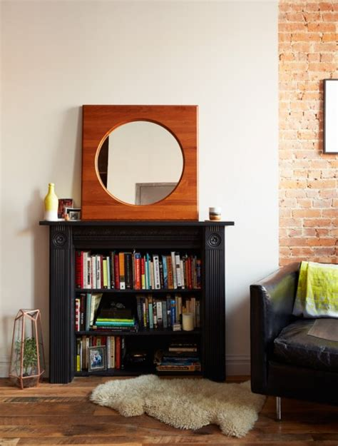 turn fireplace into bookshelf turning an mantel into a bookcase is an inspired diy