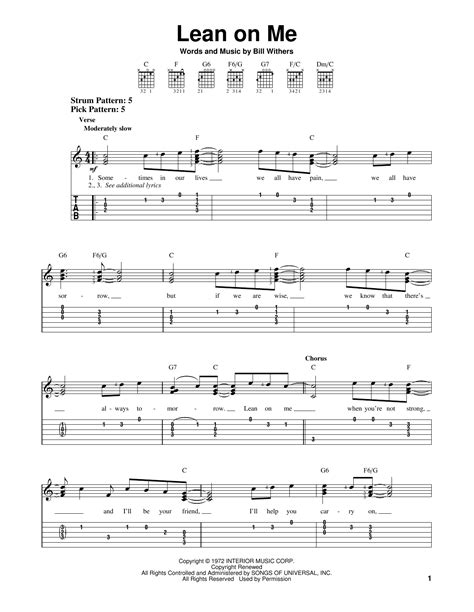 lean on me bathroom song lean on me by bill withers easy guitar tab guitar