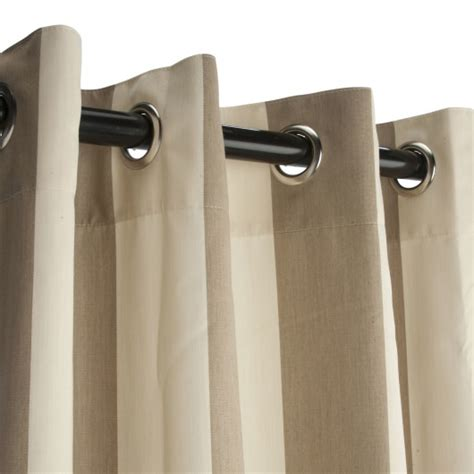 sunbrella outdoor curtains on sale regency sand sunbrella grommeted outdoor curtain on sale